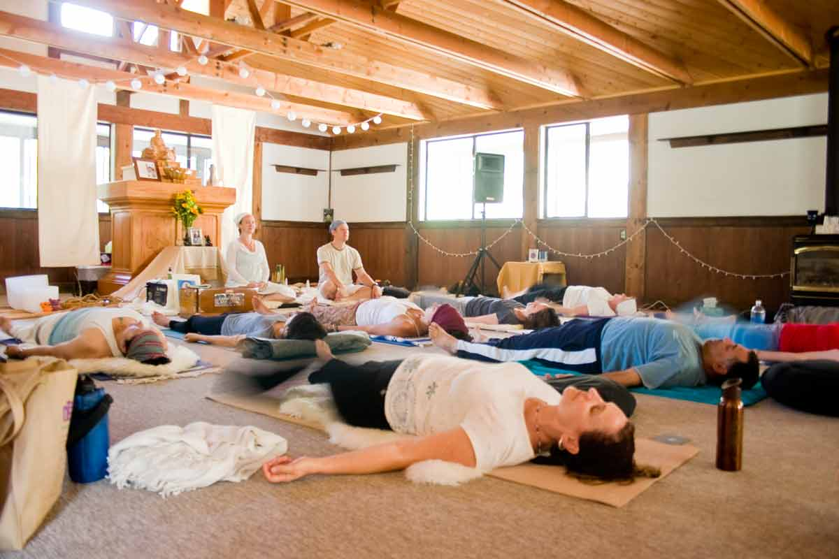 Yoga Group in the meditation hall