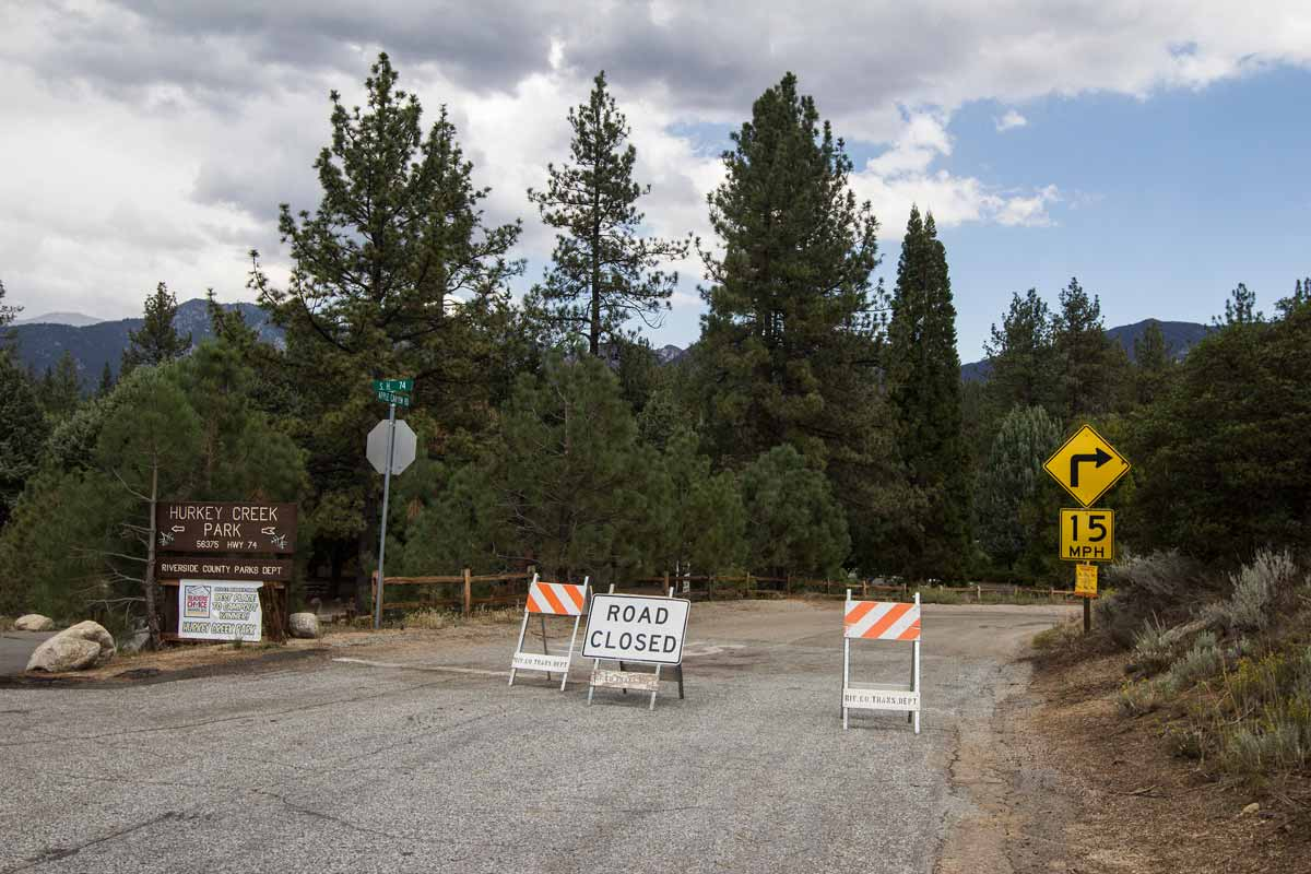 Apple Canyon Road closed as of yesterday