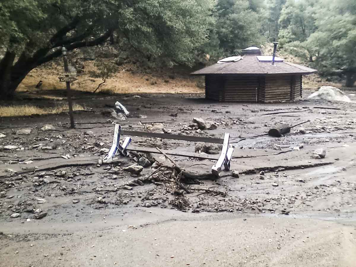 Flood damage at Yokoji Zen Mountain Center
